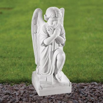 Angel Figurine 54cm Religious Statue - Marble Garden Ornament