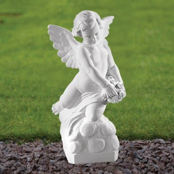 Angel Figurine 56cm Religious Statue - Marble Garden Ornament