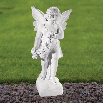Angel Figurine 60cm Religious Statue - Marble Garden Ornament