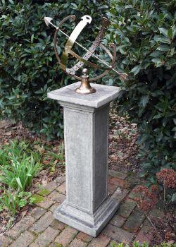 Athenian Armillary Stone Sun Dial - Garden Sundial