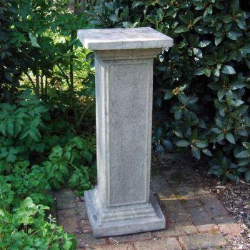 Athenian Column Pedestal - Stone Statue Plinth