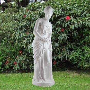 Autumn Maiden 164cm Roman Garden Sculpture - Large Marble Statue