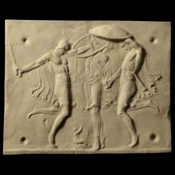 Baby Zeus - Ancient Roman Marble Wall Relief Plaque