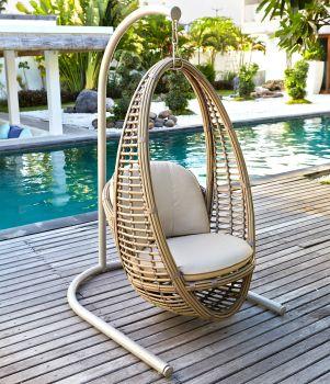 Bakari Rattan Hanging Chair Garden Furniture