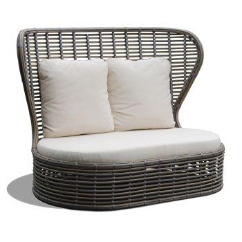 Bakari Rattan Love Seat Sofa Garden Furniture