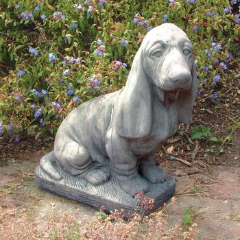 Basset Hound Dog Statue - Large Garden Ornament