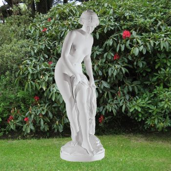Bathing Goddess 40cm Roman Garden Sculpture - Large Marble Statue