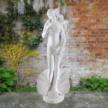 Birth of Venus 61cm Greek Garden Sculpture - Large Marble Statue