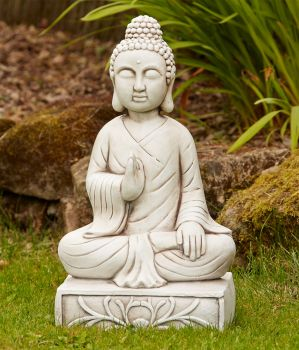 Blissful Stone Buddha Statue - Large Garden Ornament