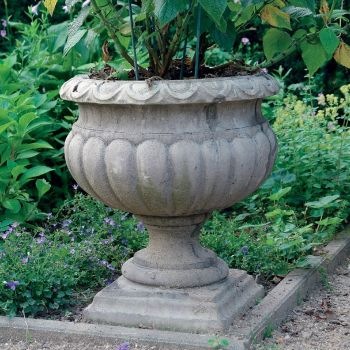 Buckingham Urn Stone Plant Pot - Small Garden Planter