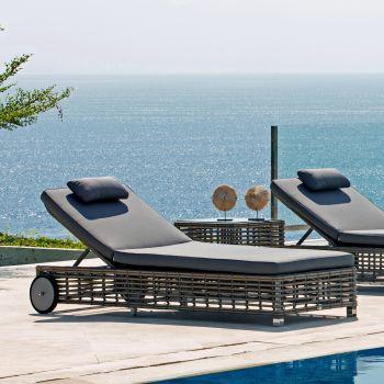 Castries Rattan Sun Lounger Garden Furniture
