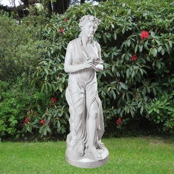 Classic Roman Lady 170cm Garden Sculpture - Large Marble Statue