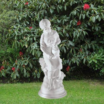 Classic Water Lady 63cm Garden Sculpture - Large Marble Statue