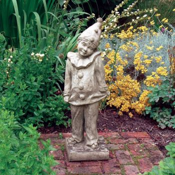 Clown Figurine Stone Statue - Large Garden Sculpture