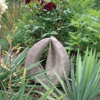 Contemporary Capsule Design - Large Stone Garden Statue