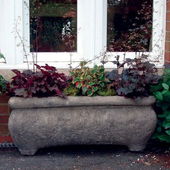 Continental Stone Plant Trough - Large Garden Trough