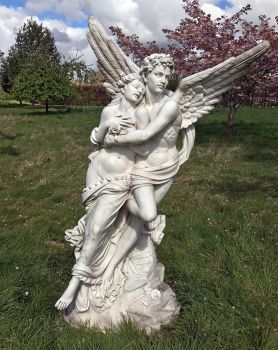 Cupid and Psyche Marble Statue - 197cm Garden Sculpture