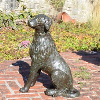 Duke the Dog Bronze Metal Garden Statue