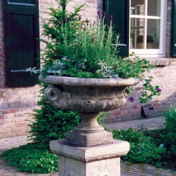 Edwardian Stone Plant Pot - Large Garden Planter