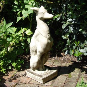 Egyptian Dog Stone Sculpture - Large Garden Statue