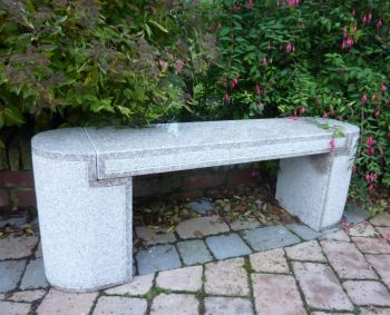 Elegance Polished Granite Stone Bench - Large Garden Benches