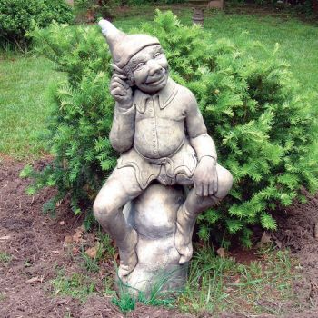 Elf Figurine Stone Statue - Large Garden Sculpture
