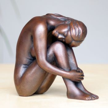 Emma Bronze Sculpture - Nude Female Modern Figurine