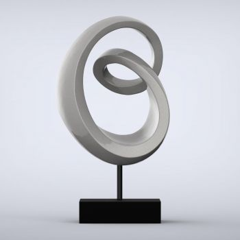 Eternity Contemporary Indoor Sculpture - 16 Colour Options