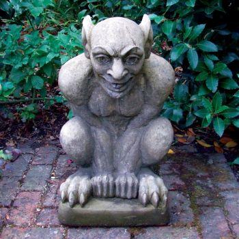 Evil Goblin Stone Statue - Large Garden Sculpture