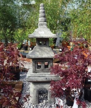Four Piece Japanese Pagoda Lantern - Large Chinese Garden Ornament