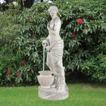 Garden Sculpture - Jug Lady 175cm Marble Water Feature