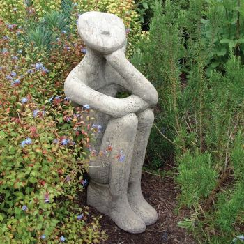 Georgie Modern Stone Statue - Large Garden Sculpture