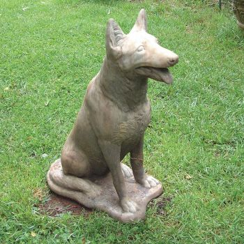 German Shepherd Dog Sculpture - Large Garden Statue