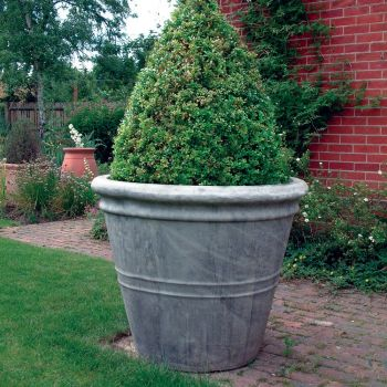 Giant Stone Flower Plant Pot Vase - Large Garden Planter