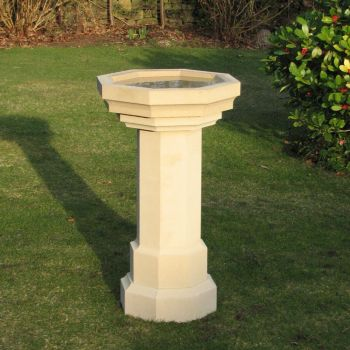 Gothic Design Stone Birdbath - Large Garden Bird Bath