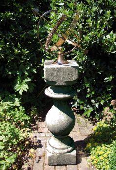 Grand Baluster Armillary Stone Sun Dial - Garden Sundial