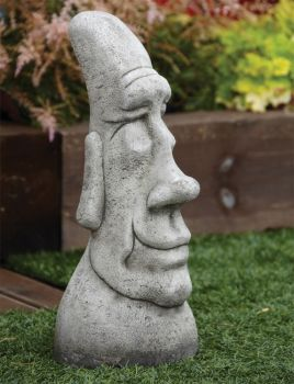 Grandad Head Sculpture - Large Easter Island Head Statue