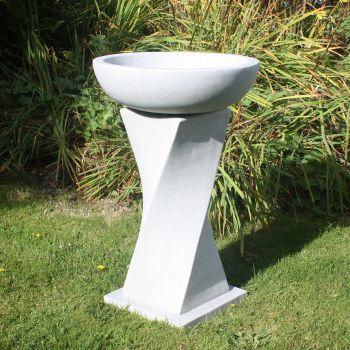 Granite Resin Birdbath Feeder - Garden Bird Bath