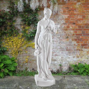 Hebe 120cm Greek Garden Sculpture - Large Marble Statue