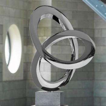 Helix Metal Sculpture - Indoor Contemporary Art Statue