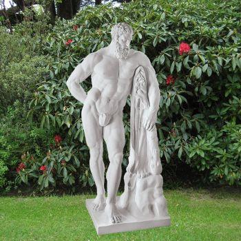 Hercules 60cm Roman Garden Sculpture - Large Marble Statue
