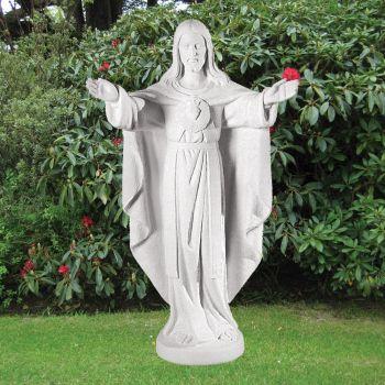 Jesus Christ 100cm Religious Sculpture - Marble Garden Statue