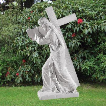 Jesus Christ 113cm Religious Sculpture - Marble Garden Statue