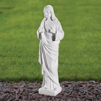 Jesus Christ 37cm Religious Statue - Marble Garden Ornament