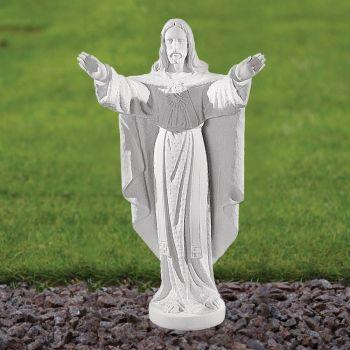 Jesus Christ 43cm Religious Sculpture - Marble Garden Statue