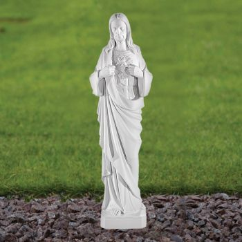 Jesus Christ 51cm Religious Sculpture - Marble Garden Statue