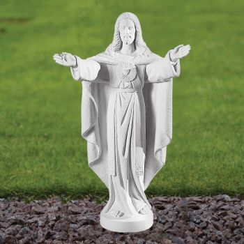 Jesus Christ 58cm Religious Sculpture - Marble Garden Statue