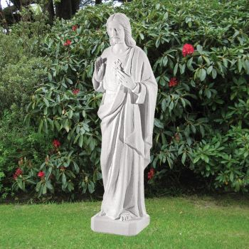 Jesus Christ 97cm Religious Sculpture - Marble Garden Statue