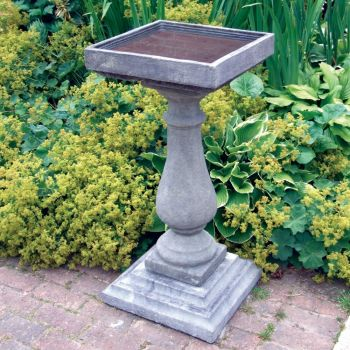 Large Baluster Stone Bird Bath - Garden Birdbath Feeder