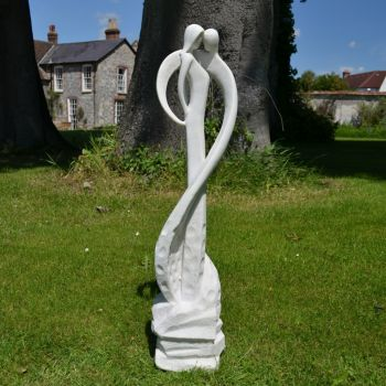 Large Contemporary Sculptures - Loving Kiss Modern Garden Statue